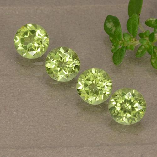 Light Lively Green 橄榄石 Gem - 0.4ct 圆形切面 (ID: 489662)