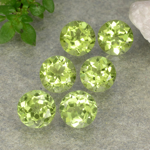 Lively Green Peridot Gem - 0.4ct Round Facet (ID: 489706)