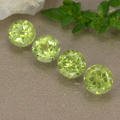 Lively Green Peridot Gem - 0.4ct Round Facet (ID: 489750)