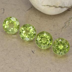 Lively Green Peridot Gem - 1ct Round Facet (ID: 490438)