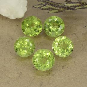 Lively Green Peridot Gem - 0.8ct Round Facet (ID: 490510)