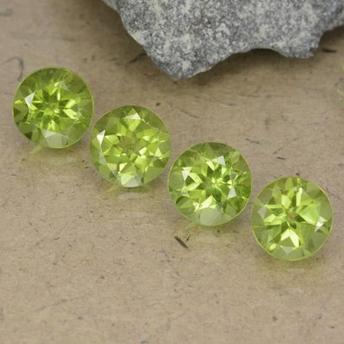 Light Lively Green 橄榄石 Gem - 1ct 圆形切面 (ID: 490553)