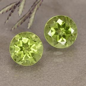 0.9ct Round Facet Lively Green Peridot Gem (ID: 490920)