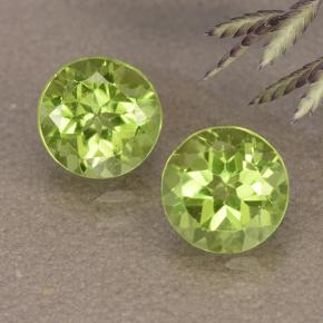 1ct Round Facet Lively Green Peridot Gem (ID: 490923)