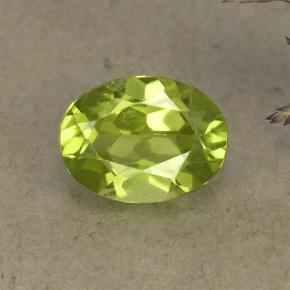1.5ct Oval Facet Lively Green Peridot Gem (ID: 492144)