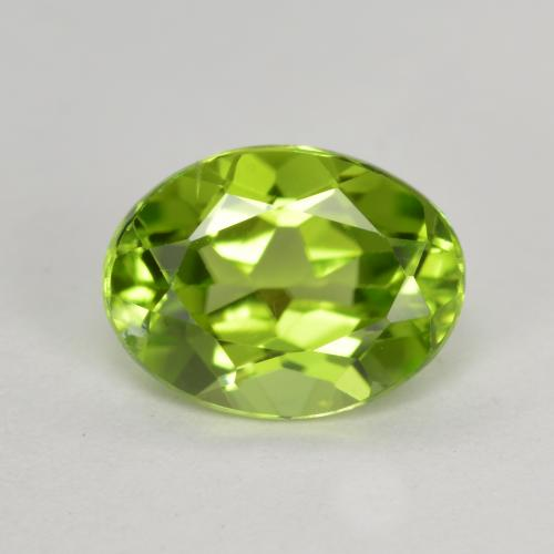 Light Lively Green Peridoto Gema - 1.5ct Forma ovalada (ID: 492146)