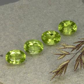 1.4ct Oval Facet Lively Green Peridot Gem (ID: 492301)