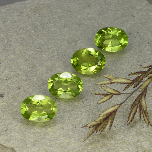 Lively Green Peridot Gem - 1.4ct Oval Facet (ID: 492302)