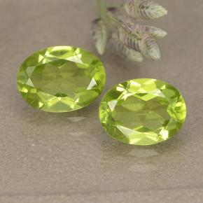1.3ct Oval Facet Lively Green Peridot Gem (ID: 492470)