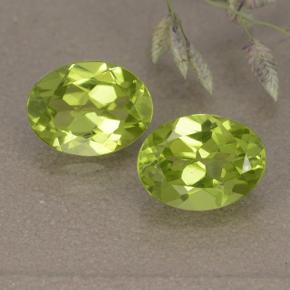 thumb image of 1.3ct Oval Facet Lively Green Peridot (ID: 492475)