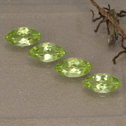 Lively Green Peridot Gem - 0.4ct Marquise Facet (ID: 496383)