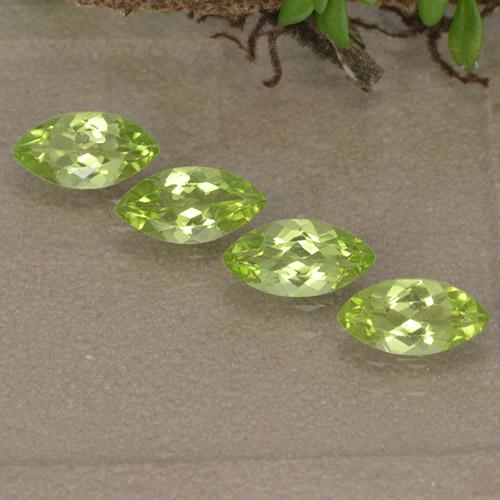 Lively Green Peridot Gem - 0.4ct Marquise Facet (ID: 496386)