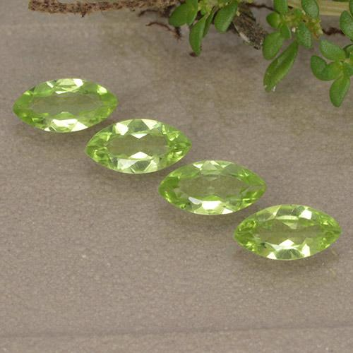 Lively Green Peridot Gem - 0.4ct Marquise Facet (ID: 496391)