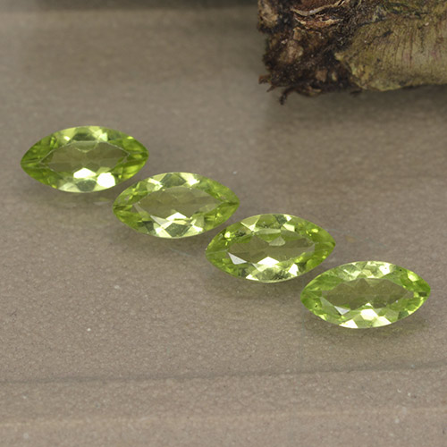Lively Green Peridot Gem - 0.4ct Marquise Facet (ID: 496392)