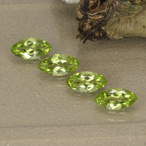 Lively Green Peridot Gem - 0.4ct Marquise Facet (ID: 496401)