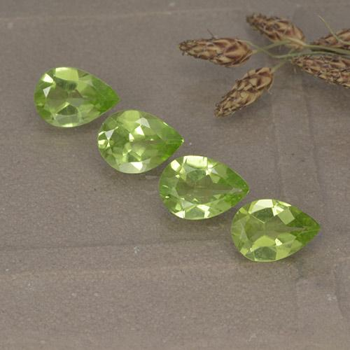 0.6ct Pear Facet Lively Green Peridot Gem (ID: 497266)