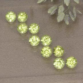0.1ct Round Facet Lively Green Peridot Gem (ID: 498198)