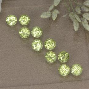 0.1ct Round Facet Lively Green Peridot Gem (ID: 498203)