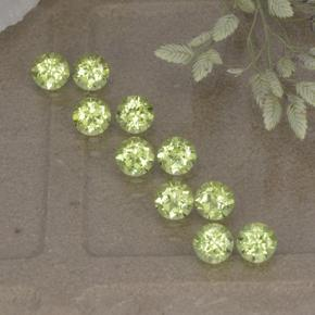 0.1ct Round Facet Lively Green Peridot Gem (ID: 498208)