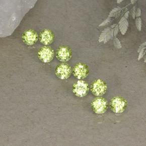 0.1ct Round Facet Lively Green Peridot Gem (ID: 498245)