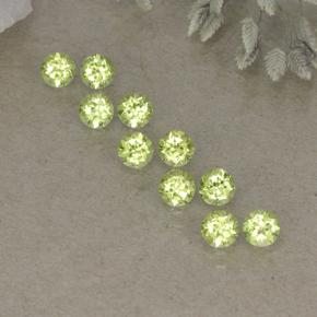 0.1ct Round Facet Lively Green Peridot Gem (ID: 498248)