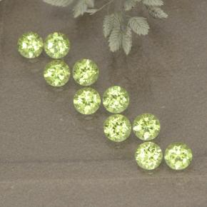 0.1ct Round Facet Lively Green Peridot Gem (ID: 498526)