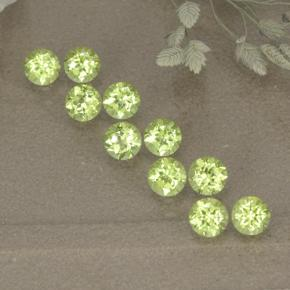 0.1ct Round Facet Lively Green Peridot Gem (ID: 498527)