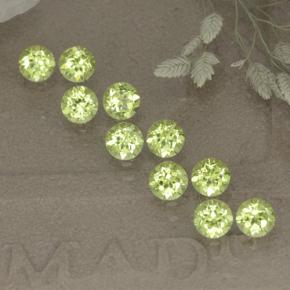 Lively Green Peridot Gem - 0.1ct Round Facet (ID: 498534)