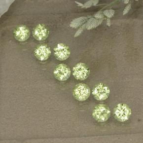 0.1ct Round Facet Lively Green Peridot Gem (ID: 498550)