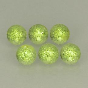 Lively Green Peridot Gem - 0.3ct Round Facet (ID: 499806)