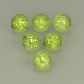 Lively Green Peridot Gem - 0.3ct Round Facet (ID: 499808)
