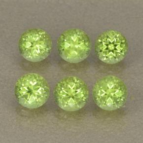 Lively Green Peridot Gem - 0.3ct Round Facet (ID: 499980)