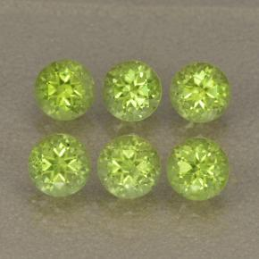 Lively Green Peridot Gem - 0.3ct Round Facet (ID: 499982)