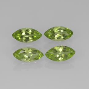 Lively Green Peridot Gem - 0.4ct Marquise Facet (ID: 505601)