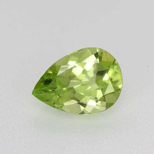 0.7ct Pear Facet Light Lively Green Peridot Gem (ID: 521677)