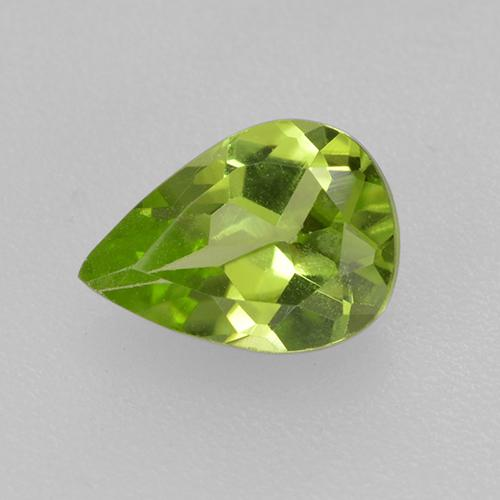 Lively Green Peridot Gem - 0.7ct Pear Facet (ID: 521679)