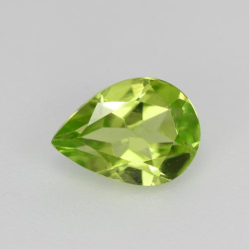 0.8ct Pear Facet Lively Green Peridot Gem (ID: 521684)