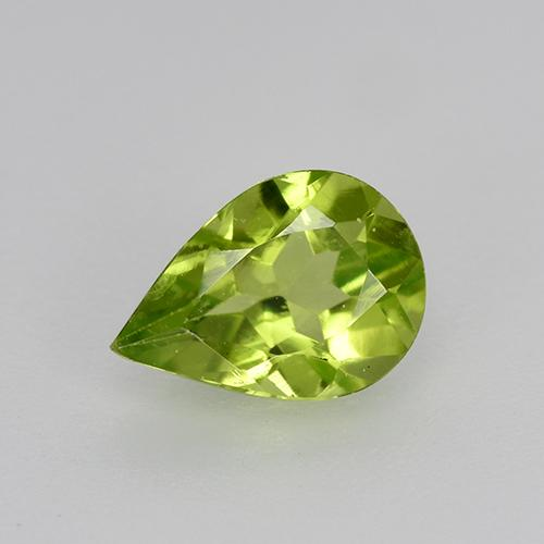 0.8ct Pear Facet Lively Green Peridot Gem (ID: 521686)