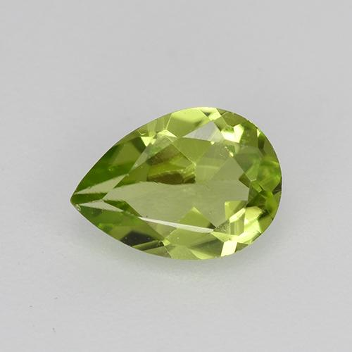 0.7ct Pear Facet Lively Green Peridot Gem (ID: 521687)