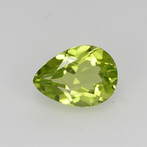 0.8ct Pear Facet Lively Green Peridot Gem (ID: 522496)