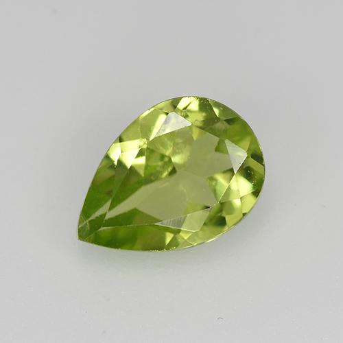 0.7ct Pear Facet Lively Green Peridot Gem (ID: 522497)