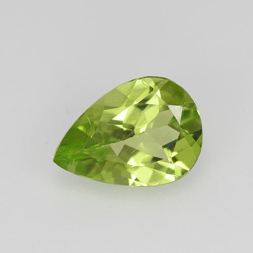 0.7ct Pear Facet Lively Green Peridot Gem (ID: 522499)