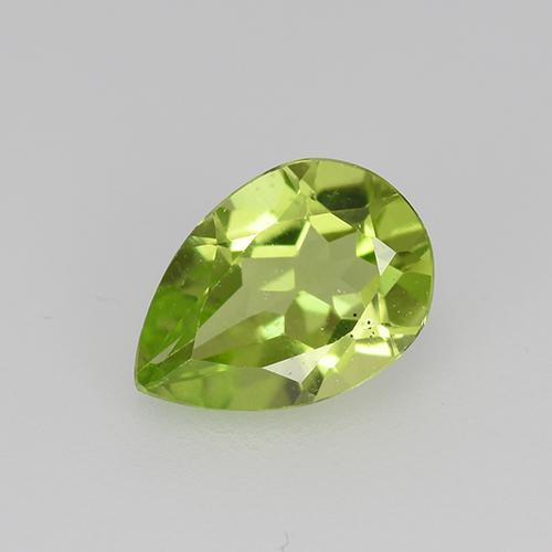 Medium Green Peridot Gem - 0.7ct Pear Facet (ID: 522500)