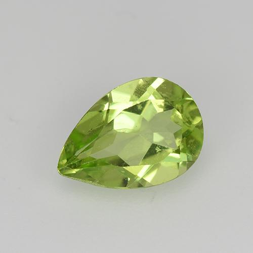 0.7ct Pear Facet Lively Green Peridot Gem (ID: 522503)