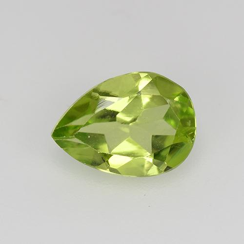 0.7ct Pear Facet Lively Green Peridot Gem (ID: 522504)