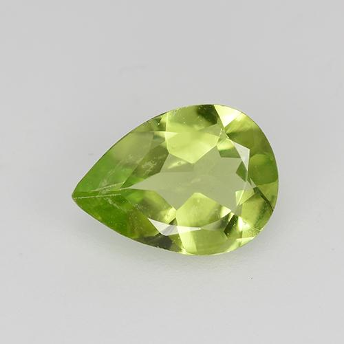 0.6ct Pear Facet Lively Green Peridot Gem (ID: 522507)