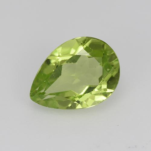 0.8ct Pear Facet Light Lively Green Peridot Gem (ID: 523477)