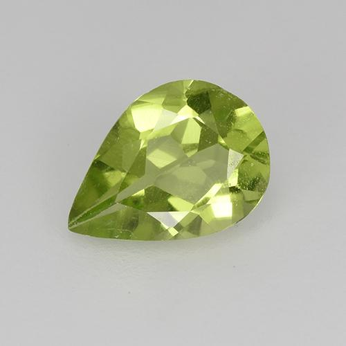 0.6ct Pear Facet Light Lively Green Peridot Gem (ID: 523479)