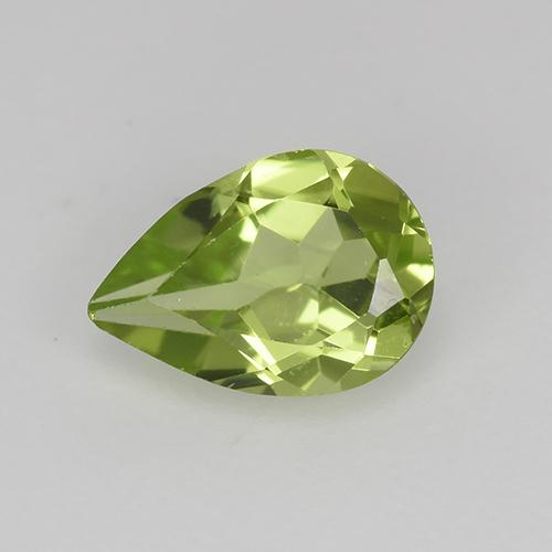 0.6ct Pear Facet Light Lively Green Peridot Gem (ID: 523480)