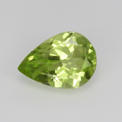 0.8ct Pear Facet Lively Green Peridot Gem (ID: 523481)